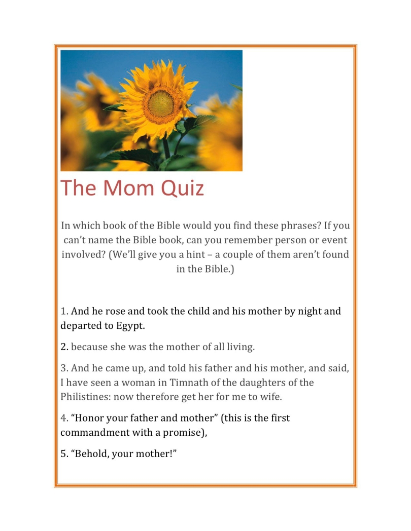 The Mom Quiz